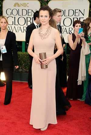 Golden Globes: Emily Watson arrives at the 69th Annual Golden Globe Awards