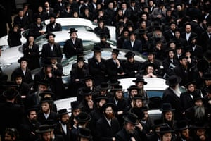 24 hours: Jerusalem: Men attend a demon against the arrest of six Ultra Orthodox Jews