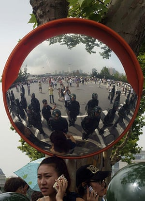 China environmental year: protest against the building of the Fujia chemical plant in Dalian