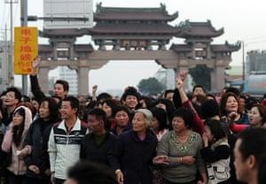 China environmental year: environmental protests in the town of Haimen, Guangdong