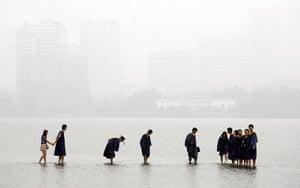 China environmental year:  flooded Donghu Lake in Wuhan, Hubei