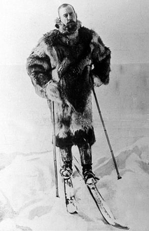 south pole expeditions: Explorer Roald Amundsen during his expedition the South Pole in 1911