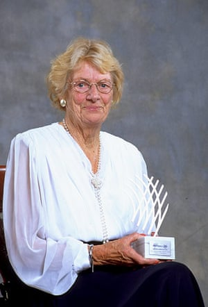 "Fanny Blankers Koen: Fanny Blankers-Koen with the IAAF ""Female Athlete of the Century"""