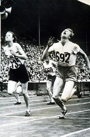Fanny Blankers Koen: Fanny Blankers-Koen wins the Olympic 80m hurdles final in 1948