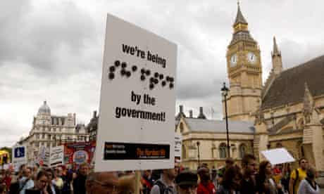 disabled people protest london