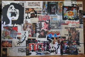Arab spring art : A collage by Natalie Ayoub