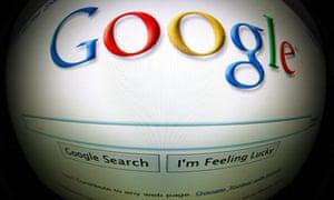 google homepage through fish eye lense