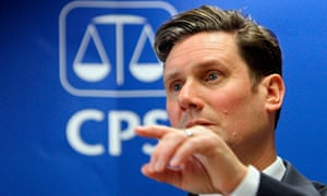 Britain's Director of Public Prosecutions Keir Starmer