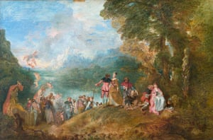 The Doors of Perception: The Embarkation for Cythera by Jean Antoine Watteau