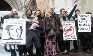 Occupy London protesters at the high court
