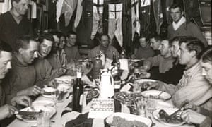 Captain Scott and members of the Terra Nova expedition celebrate his 43rd birthday