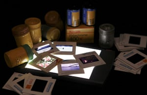 Kodak: 10 January 2012: A collection of Kodak slide film and film containers