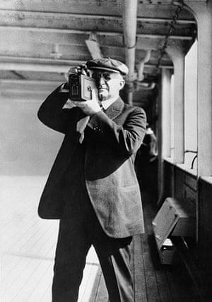Kodak: 1925: George Eastman taking pictures with a Kodak camera