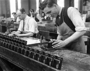 Kodak: Production line worker assembling a Kodak c
