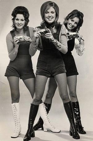 Kodak: 1971: Women hold Kodak cameras at the Ideal Home Exhibition
