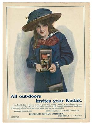 Kodak Girl:  All out-doors invites your Kodak