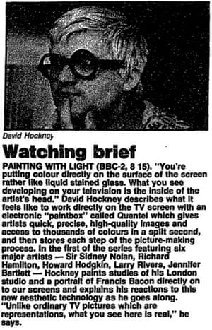 David Hockney on TV