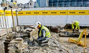 The excavation of the Temple of Mithras in the City of London