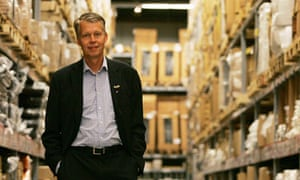 Anders Dahlvig, ex-CEO of Ikea, poses inside a store
