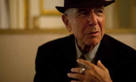 Leonard Cohen in Paris, January 2012.