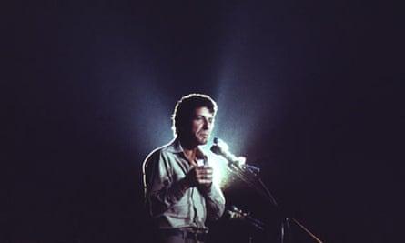 Cohen onstage, Copenhagen, 1972.
