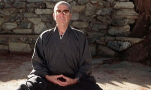 Cohen meditating, Mount Baldy, 1995.