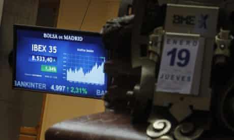Spanish stock exchange video display