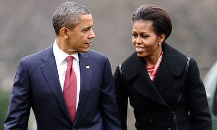 Barack Obama with his wife, Michelle