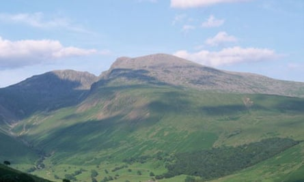 Scafell Pike in Cumbria, where teenager Lee Jones died after getting lost in snow
