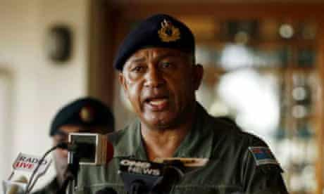 Frank Bainimarama during the 2006 coup that brought him to power