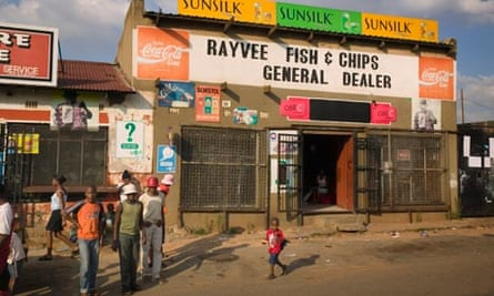 Fish and Chips general store in Soweto, South Africa