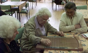 Elderly people at a day centre