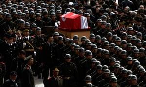 Rauf Denktash funeral procession