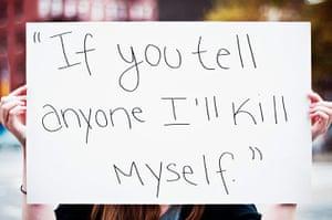 "extraordinarywomen: ""If you tell anyone I'll kill myself"""