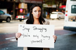 """extraordinarywomen: """"Stop struggling, you're only hurting youself"""""""