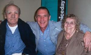 Prisoner John Massey, with parents