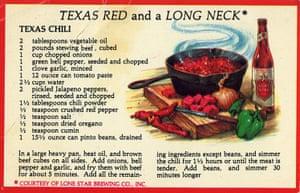 Angela Carter postcards: Texas chili