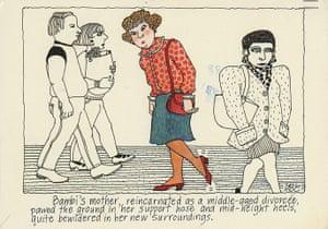 Angela Carter postcards: Bambi's mother
