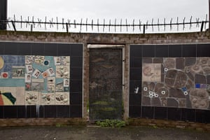 Peace Wall: The Peace wall runs the length of Bryson Street in Belfast