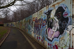 Peace Wall: The peace wall in Alexandra Park, Belfast