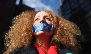 Protest against Sopa and Pipa in New York