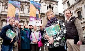 Yorkshire visitors to the David Hockney exhibition