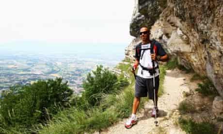 Lewis Hamilton Trekking In Geneva