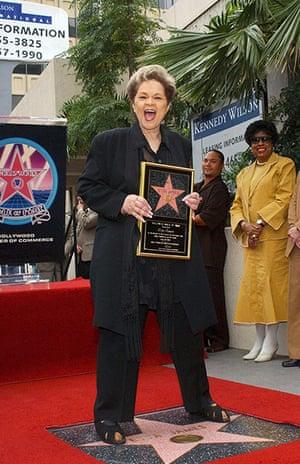 Etta James Obituary: 18 April 2003: Etta James receives a star in Hollywood