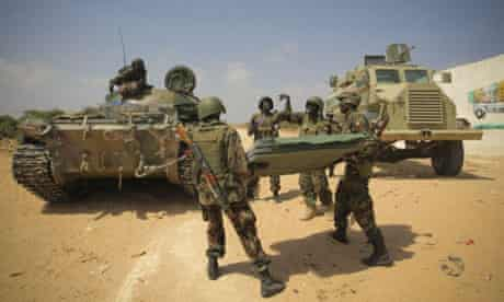 Ugandan soldiers with the Amisom mission in Somalia