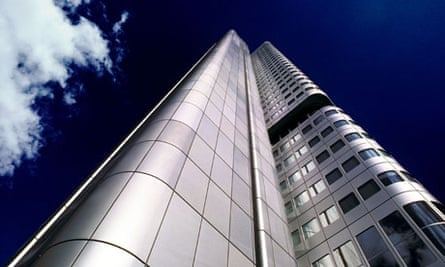 Dresdner Bank building headquarters in Frankfurt, Germany