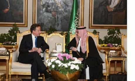 Prince Mohammed bin Nawaf of Saudi Arabia and David Cameron
