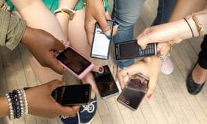 group of phones