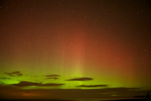 northern lights from Holy Island by Jonathan Ranson