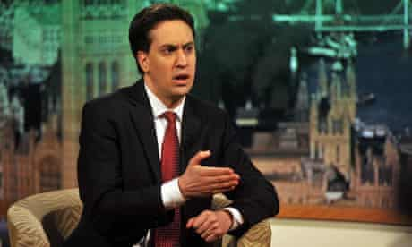 Ed Miliband on the Andrew Marr Show 15/1/12
